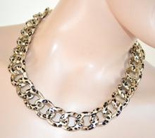 COLLANA GIROCOLLO donna ORO anelli sexy collar necklace collier ожерелье 400A