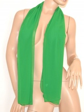 Foulard donna coprispalle stola cerimonia verde velata x abito elegante da sera tinta unita 105N