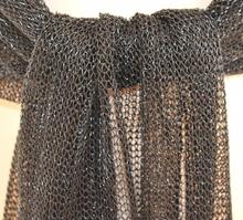 MAXI STOLA NERA donna coprispalle scialle elegante a rete cerimonia maxi foulard abito da sera S1