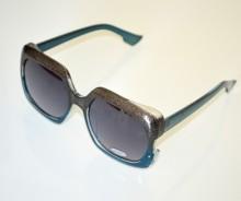 OCCHIALI da SOLE donna GRIGIO AZZURRE lenti quadrate темные очки sunglasses BB15