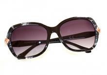 OCCHIALI da SOLE donna GRIGIO NERI serpente ORO lenti ovali brillantini sunglasses lunettes E60