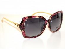 OCCHIALI da SOLE donna neri rosa maculate lenti aste oro dorate strass gafas G14