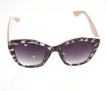 OCCHIALI da SOLE donna ROSA NERO MACULATO aste BLU VERDE lenti ovali lunettes E35