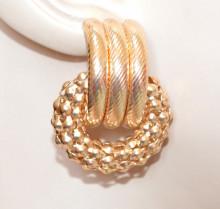 ORECCHINI a lobo ORO donna cerchi dorati pendenti anello torchon earrings ragazza CC206
