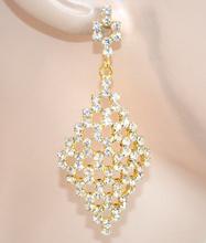 ORECCHINI donna SPOSA eleganti ORO cristalli STRASS da cerimonia boucles 25X