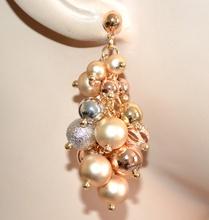 ORECCHINI pendenti donna argento oro rosa dorati eleganti ciondoli lucidi satinati BB1