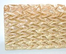 POCHETTE BORSELLO donna ORO clutch bag dorata ELEGANTE da cerimonia da sera 1235
