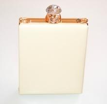 POCHETTE donna BEIGE AVORIO ORO borsello clutch elegante cristalli borsa cerimonia E120