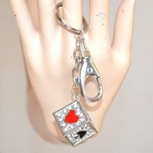 PORTACHIAVI donna CIONDOLO uomo STRASS argento cristalli idea regalo natale 35