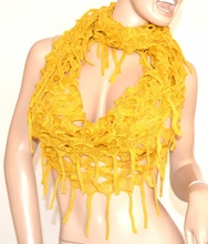 SCIARPA donna scaldacollo scialle GIALLO lana Scarf bufanda écharpe шарф Schal 10