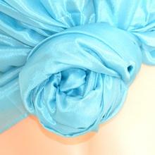 STOLA AZZURRA 60% SETA donna foulard coprispalle scialle elegante cerimonia A52