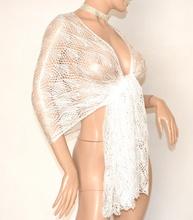 STOLA BIANCA donna coprispalle sposa filo foulard MAXI da cerimonia elegante abito da sera E50
