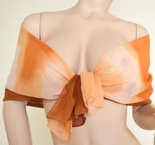 Stola Coprispalle donna elegante per abito da sera\cerimonia marrone e arancio