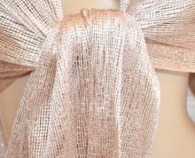 STOLA donna ROSA CIPRIA filo rete foulard scialle coprispalle frange scarf 1020A