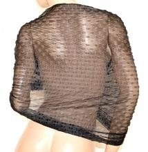 STOLA NERA foulard donna maxi coprispalle velata scialle elegante abito cerimonia A20