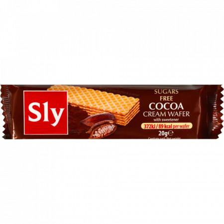 Sly, Napolitane Crema Cacao, Fara Zahar, 20g