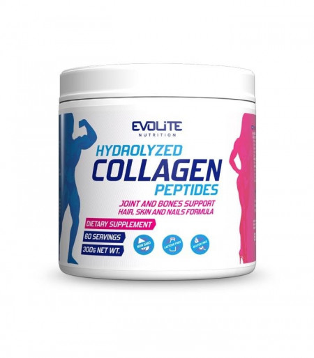 Evolite Nutrition Hydrolyzed Collagen Peptides, 300 g