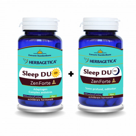 Herbagetica Sleep Duo AM/PM Zen Forte, 30 capsule + 30 capsule