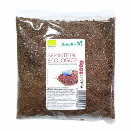 Driedfruits Seminte de in ecologice, 200 g