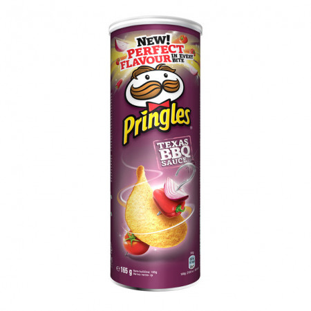 PRINGLES,Chipsuri Pringles cu sos Texas BBQ, 165g