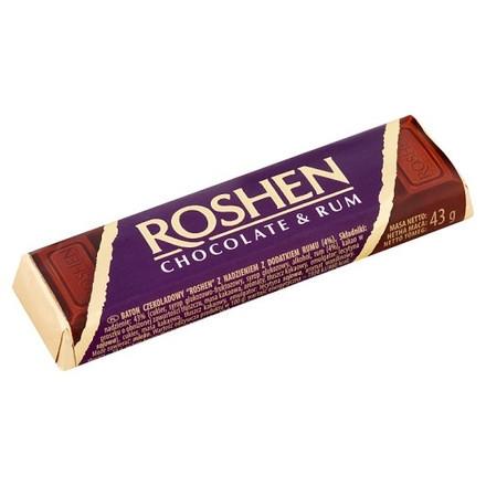 Roshen, Ciocolata Lapte Cu Umplutura De Rom, 43g