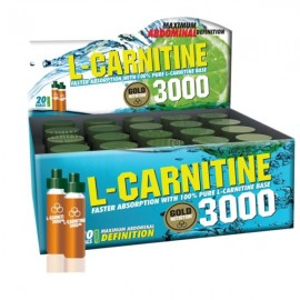 Gold Nutrition L-carnitine 3000 mg, 20 x 10 ml, lamaie