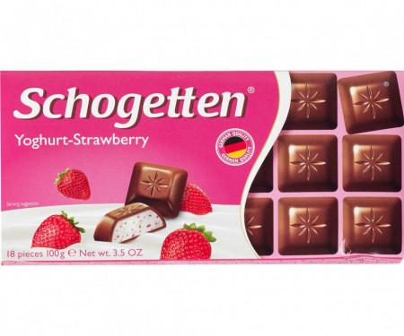 Schogetten, Ciocolata Iaurt/Capsuni, 100g