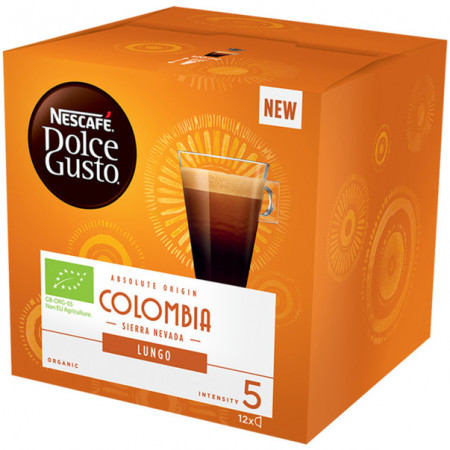 Nescafe Dolce Gusto Cafea Lungo Columbia, ecologica, 84 g