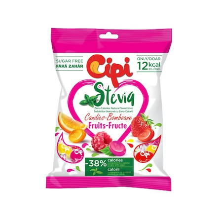 Cipi, Stevia Fructe, 80g, Fara Zahar