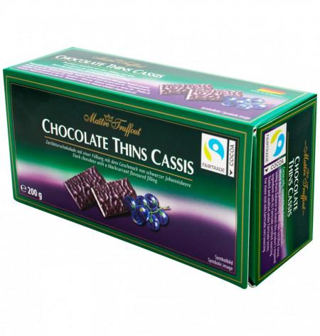 Maitre Truffout, Thins Cassis Coacaze, 200g