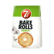 7DAYS,Bake Rolls cu usturoi, 80 g