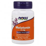NOW Melatonina 3mg ,60 Veg Capsules