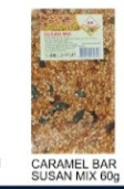 Finess, Caramel Bar Susan Mix, 60g