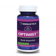 Herbagetica Optimist+, 60 capsule