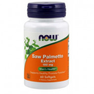 NOW Saw Palmetto Extract 160mg, 60 softgels