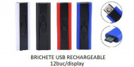 Unilite, Brichete USB Lighter Rechargeble, 12buc