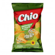 CHIO,chips cu aroma de smantana si ceapa, 60g
