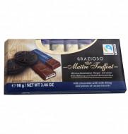 Maitre Truffout, Grazia Ciocolata cu Lapte si Biscuiti, 98g