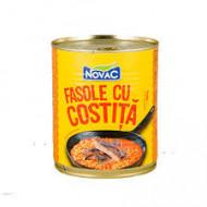 Novac, Fasole Cu Costita, 800g