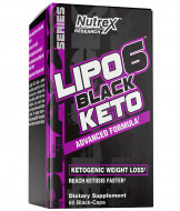 Nutrex Lipo 6 Black Keto Advanced Formula, 60 Capsule