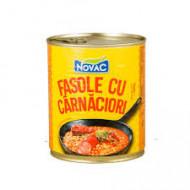 Novac, Fasole Cu Carnati, 300g