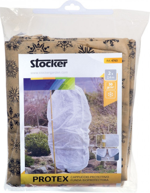 Poze Husa microporoasa Protex, alba, 1,2 x 1,6 m, 30 gr/m², cu fermoar si snur, 2 buc/set, Stoker