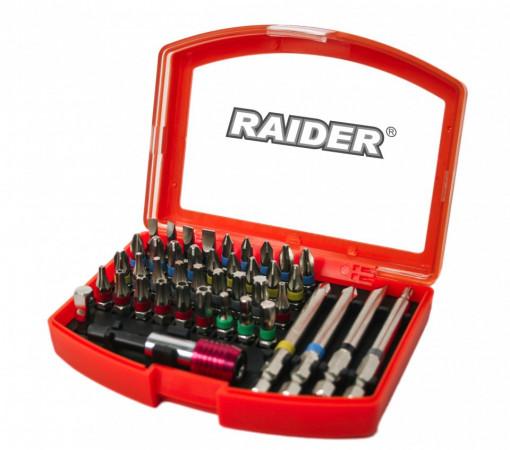 Set 38 biti cu adaptor si suport magnetic prindere 1/4 Raider Power Tools