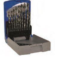 Set burghie DIN 338, rectificate, HSS 1-10 mm x 0,5 mm / 19 piese, Tivoly Franta
