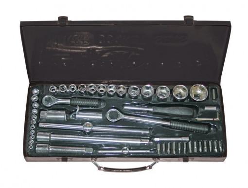 "Set tubulare auto  52piese 1/4 & 1/2"" 4-30mm met. box Gadget"