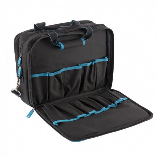 """Geanta pentru scule """"Meister"""", 31 buzunare, compartiment laptop, curea de umar, 400x170x300 mm, Gross"""
