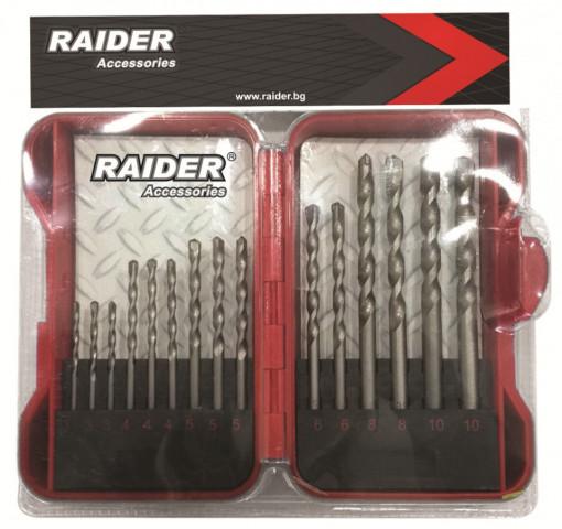 Set burghie pentru zidarie Ø3 - 10mm, 15 piese, Raider Power Tools