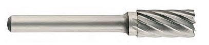 Freza din carbura de tungsten forma A - cilindrica cu cap taietor, tais simplu tip A