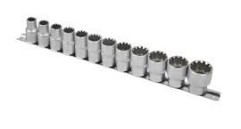 "Set 11 tubulare scurte 1/2"" x 10 - 24 mm 12 colturi CRV Topmaster Profesional"