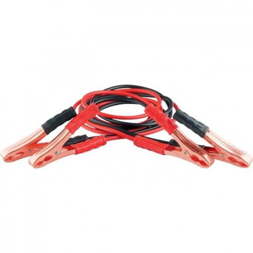 Cabluri pornire 200 A , lungime 2,3 m, geanta cu fermoar// STELS